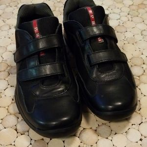 Prada Patent Leather Strap Sneakers